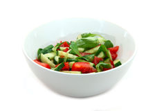 Salada vegetal no fundo branco imagens de stock royalty free