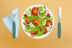 Salada vegetal verde fotos de stock