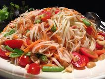 Salada verde da papaia Imagem de Stock