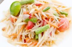 Salada verde da papaia Fotos de Stock