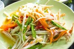 Salada verde da papaia Fotografia de Stock Royalty Free