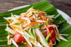 Salada verde da papaia Imagem de Stock Royalty Free