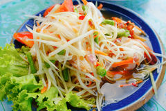 Salada verde da papaia Imagens de Stock