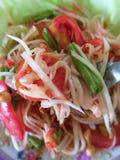 Salada verde da papaia Alimento tailandês - fritada #6 do Stir imagem de stock royalty free
