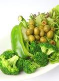 Salada verde do jardim saudável fotografia de stock royalty free