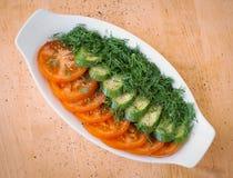 Salada verde em uma bacia Imagem de Stock