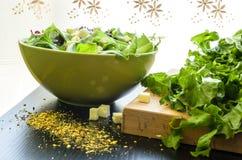 Salada verde na bacia Imagem de Stock