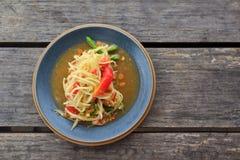Salada verde tailandesa da papaia Fotos de Stock