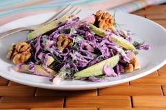 Salada vermelha da salada de repolho Imagem de Stock