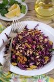 Salada vermelha da salada de repolho Fotos de Stock Royalty Free