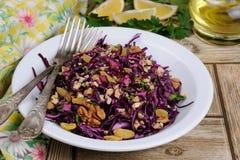 Salada vermelha da salada de repolho Imagem de Stock Royalty Free