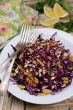 Salada vermelha da salada de repolho Fotografia de Stock