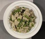 Salada vietnamiana picante da salsicha imagem de stock
