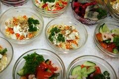 Saladas diferentes Imagens de Stock