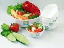 Saladas dos vegetais Foto de Stock Royalty Free