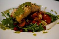 Saladas Salmon Imagens de Stock