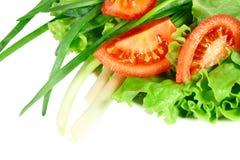 Salade à l'oignon et aux tomates photo libre de droits