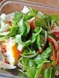 Salade épicée d'oeufs Photographie stock