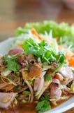 Salade épicée de coques Photos libres de droits