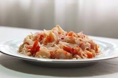 Salade épicée de crevette rose Photos libres de droits
