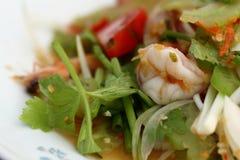 Salade épicée de crevettes Photos libres de droits