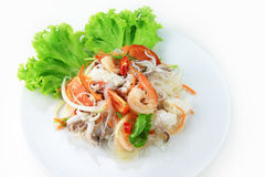 Salade épicée de fruits de mer Photographie stock libre de droits