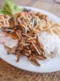Salade épicée de papaye thaïlandaise (ventre de som) Photos stock