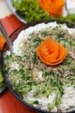 Salade épicée de poissons Image libre de droits