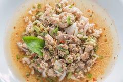 Salade épicée de viande hachée images libres de droits