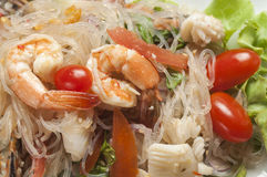 Salade épicée thaïe de fruits de mer Photos stock
