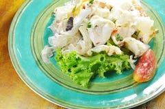 Salade épicée thaïlandaise de calmar et légume frais Photographie stock