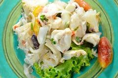 Salade épicée thaïlandaise de calmar et légume frais Photo libre de droits