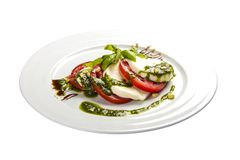 Salade 'Caprese ' Traditionele Italiaanse schotel royalty-vrije stock foto
