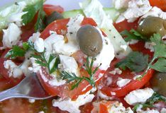 Salade 1 de tomate Photo libre de droits