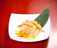 Salade asiatique avec des nouilles de cellophane Photographie stock libre de droits