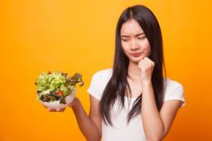 Salade asiatique de haine de femme photos libres de droits