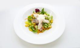 Salade avec Amuro et crème Photos libres de droits