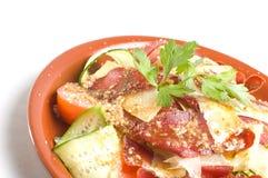 Salade avec Basturma Images stock