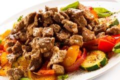 Salade avec de la viande Images libres de droits