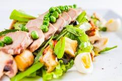 Salade avec de la viande Photo libre de droits