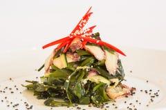 Salade avec des concombres Images libres de droits