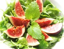 Salade avec des figues Photos libres de droits