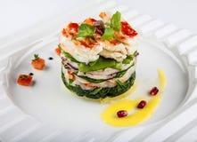 Salade avec des fruits de mer. Photographie stock libre de droits