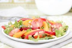 Salade avec des légumes et des verts. Photos stock