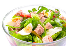 Salade avec des thons Photo stock