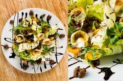 Salade avec du fromage de chèvre Image stock