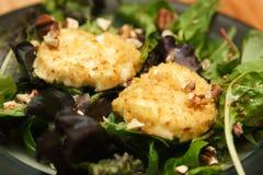 Salade avec du fromage de chèvre frit Photo libre de droits