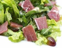 Salade avec du jambon Image libre de droits