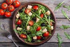 Salade avec l'arugula photo stock