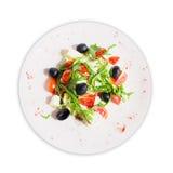 Salade avec l'arugula et les olives photos libres de droits